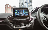 Ford Fiesta Vignale infotainment system