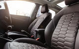 Ford Fiesta Vignale quilted leather seats