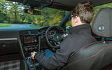 Mark Tisshaw driving the Volkswagen Golf GTI