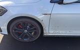 Volkswagen Golf GTI muddy wheels