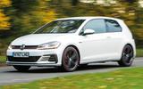 Volkswagen Golf GTI vs Hyundai i30n golf on the road