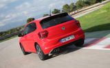 Volkswagen Polo GTI rear on the track