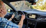John Simister driving the Volkswagen T-Roc