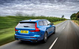 Volvo V60 T8 TwinEngine 2019 UK first drive review - hero rear