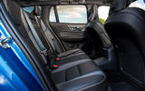 Volvo V60 T8 TwinEngine 2019 UK first drive review - rear seats
