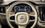 Volvo S90 prototype steering wheel