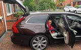 Volvo V90 boot space being used