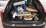 Volvo V90 loaded boot