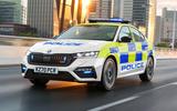 Skoda Octavia vRS police car