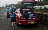 Saunder's son and the Arteon's full boot