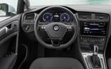 Volkswagen e-Golf dashboard