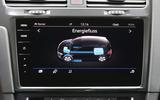 Volkswagen e-Golf infotainment system