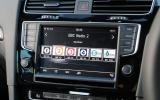 Volkswagen Golf R infotainment