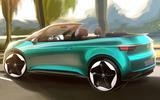 VW ID3 convertible render
