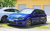 Volkswagen Golf R Mk8 spyshots side front
