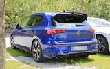 Volkswagen Golf R Mk8 spyshots side rear