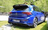 Volkswagen Golf R Mk8 spyshots rear side