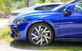 Volkswagen Golf R Mk8 spyshots  side close