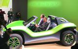 Volkswagen ID Buggy concept Geneva motor show 2019 - Diess driving