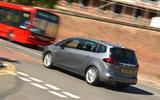 Vauxhall Zafira Tourer Elite on the road