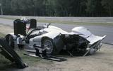 Mark Webber's wrecked CLR racecar Le Mans 1999