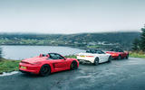 Porsche Boxster Spyder, Jaguar F-type and Mazda MX-5