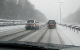 motorway driving in snow