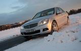 Winter Driving Mercedes