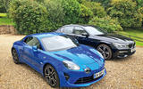Alpine A110 and BMW 740d