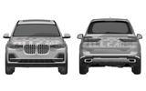 Production BMW X7: patent images reveal final design