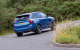Volvo XC90 B5 AWD R-Design cornering - rear