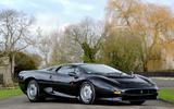 The Bugatti EB110's biggest rival, the Jaguar XJ220