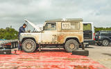 Defender Challenge in the pits