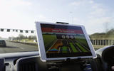 Self-driving car satellite navigation screen