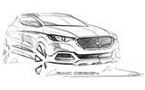MG design sketch previews new small SUV