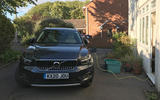 Volvo XC40 Recharge T5 2020 long-term review - home charging front