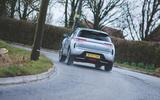 17 Onto car subscription long term test DS3 cornering rear