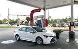 Toyota Corolla 2019 long-term review - petrol station