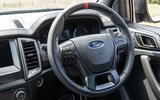Ford Ranger Raptor 2019 long term review - steering wheel