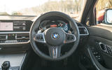 BMW 3 Series 330e 2020 long-term review - steering wheel