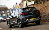MG ZS EV 2020 long-term review - on the road rear