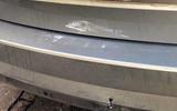 Skoda rear-end damage