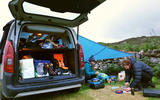 Berlingo in Scotland - camping