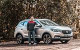 MG ZS 2019 long-term review - Olgun posing with car