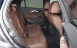 Infiniti QX30 rear seats