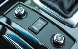 Infiniti QX70 adjustable suspension button