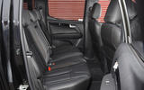 Isuzu D-Max rear seats