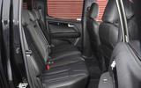 Isuzu D-Max rear seats