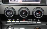 Jaguar F-Type climate control switchgear
