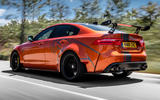 Jaguar XE SV Project 8 2018 road test review hero rear